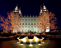 Salt Lake Temple December 2008 With Fountain